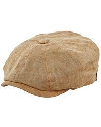 Stetson - 'hatteras' Linen Driving Cap - Lyst