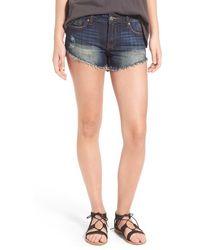 Vigoss - Distressed Cutoff Denim Shorts - Lyst