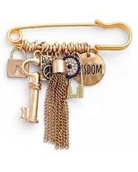 Cara | Friendship Pin With Charms | Lyst