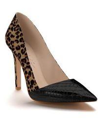 Shoes Of Prey - Genuine Calf Hair Pointy Toe Pump - Lyst