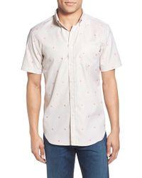 Haspel - 'rampart' Trim Fit Short Sleeve Sport Shirt - Lyst