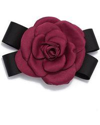 Cara - Rose & Black Bow Pin - Lyst