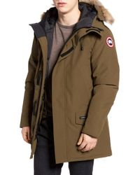 Canada Goose - Langford Slim Fit Down Parka With Genuine Coyote Fur Trim - Lyst