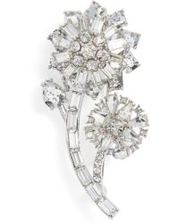 Kate Spade - 'trellis Blooms' Small Crystal Pin - Lyst