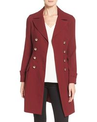 Vince Camuto - Double-Breasted A-line Coat - Lyst
