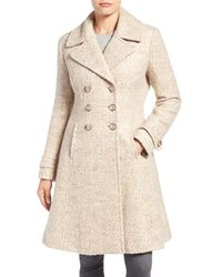 Ivanka Trump - Double Breasted Fit & Flare Coat - Lyst