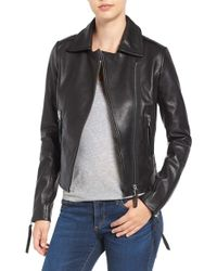 Rudsak - Asymmetric Front Leather Jacket - Lyst