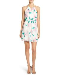 Sienna Sky - Floral Print A-line Dress - Lyst