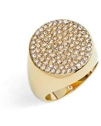 Vince Camuto - Pave Circle Signet Ring - Lyst