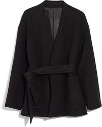 Madewell - Belted Wool Blend Wrap Coat - Lyst