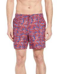 Zachary Prell - Avondale Palm Print Swim Trunks - Lyst