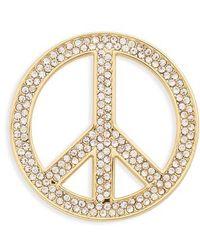 Michael Kors - Peace Sign Symbol Accessory Pin - Metallic - Lyst