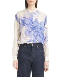 Dries Van Noten - Floral Silk Blouse - Lyst