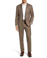 Michael Bastian - Classic Fit Herringbone Wool Suit - Lyst