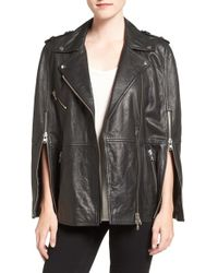 Pam & Gela - Leather Moto Cape - Lyst