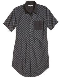 Vans | Checker Short Sleeved Jersey Shirtdress | Lyst