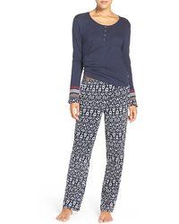 Lucky Brand - Henley Pajamas - Lyst
