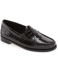 G.H.BASS - Whitney Leather Loafers - Lyst