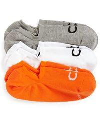 Calvin Klein - 3-pack No-show Socks, Orange - Lyst