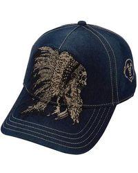 6b4cb0e69a1 True religion  horseshoe  Leather Trim Trucker Cap in Brown for Men ...