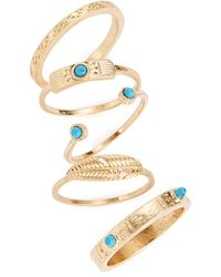 Danielle Nicole - Stackable Rings (set Of 5) - Lyst