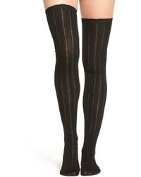 Urban Outfitters - Free People 'all For One' Pointelle Knit Over The Knee Socks - Lyst