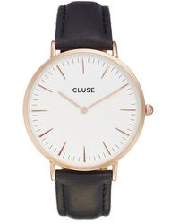 Cluse - La Boheme Leather Strap Watch - Lyst