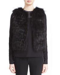 J. Mendel - Beaded Back Genuine Fox Fur Vest - Lyst