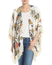Roffe Accessories - Fringe Kimono - Lyst