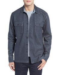 Cova - 'longitude' Flap Pocket Fleece Shirt - Lyst