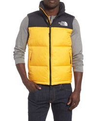 56025cb39 usa lyst the north face novelty nuptse down jacket in yellow for men ...