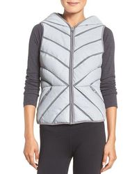 Blanc and Noir - Reflective Puffer Vest - Lyst