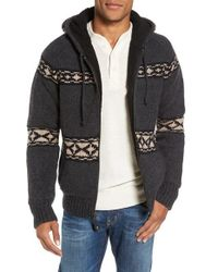 Schott Nyc - Fleece Lined Wool Blend Zip Hoodie - Lyst