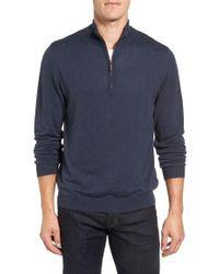 Ledbury - Half Zip Cotton Sweater - Lyst