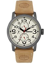 Timberland | 'erving' Multifunction Leather Strap Watch | Lyst
