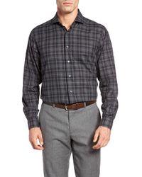 Thaddeus - Frank23 Slim Fit Plaid Sport Shirt - Lyst