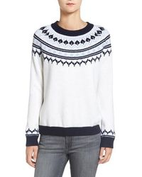 Amour Vert - 'fiona' Nordic Merino Wool Sweater - Lyst