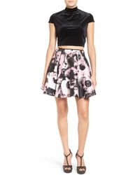 Way-in - Two Piece Skater Dress - Lyst