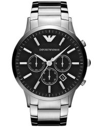 Emporio Armani - Large Round Chronograph Watch - Lyst