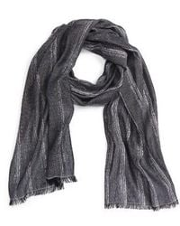 BOSS Orange - Nabril Stripe Cotton Blend Scarf - Lyst