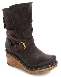 A.s.98 - Stamford Platform Wedge Boot - Lyst