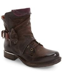 A.s.98 - Simon Slouchy Combat Boot - Lyst