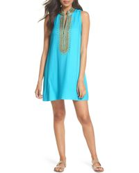 Lilly Pulitzer - Lilly Pulitzer Jane Embroidered Shift Dress - Lyst