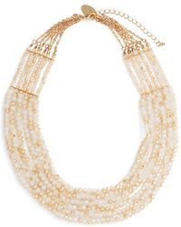 Natasha Couture - Beaded Multistrand Statement Necklace - Lyst