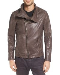 Lamarque - Asymmetric Leather Jacket - Lyst
