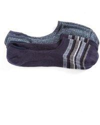 Calibrate   2-pack Cotton Blend Liner Socks, Blue   Lyst