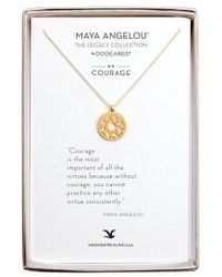 Dogeared - 'legacy Collection - Courage' Pendant Necklace - Lyst