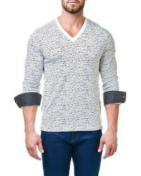 Maceoo - Print V-neck Pullover - Lyst