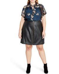 RACHEL Rachel Roy - Faux Leather Miniskirt - Lyst