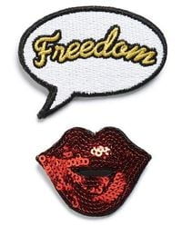 TOPSHOP - Freedom Of Speech 2-pack Brooches - Lyst
